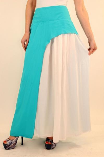 Летняя длинная юбка с разрезом на ноге 44-46 р