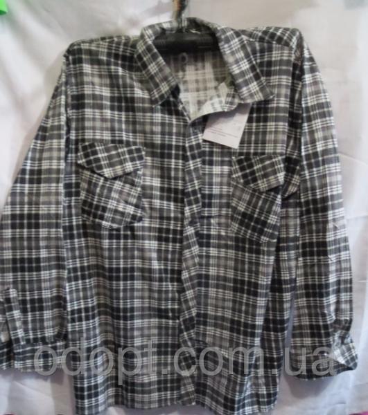 Мужская рубашка длинный рукав полубатал (р.XL-5XL)