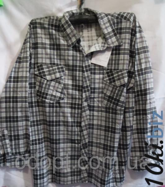 Мужская рубашка длинный рукав полубатал (р.XL-5XL) Мужские рубашки на 7км Одесса