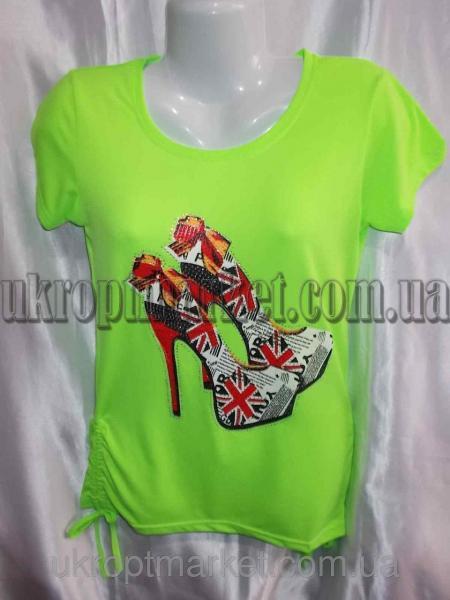 """Женская футболка Батал """"Vivat-2"""" ML-5556 №P109825"""