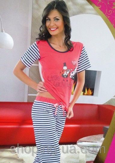 Пижама женск капри