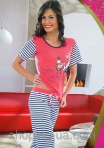 Фото НОВОЕ ПОСТУПЛЕНИЕ ЖЕНСКОЕ БЕЛЬЕ 2015, Женские пижамы опт Пижама женск капри