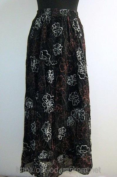 Женская юбка в цветочек