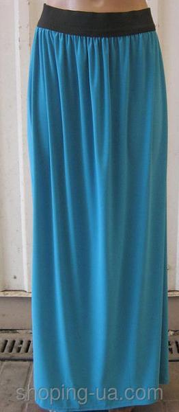 Юбка женская синяя