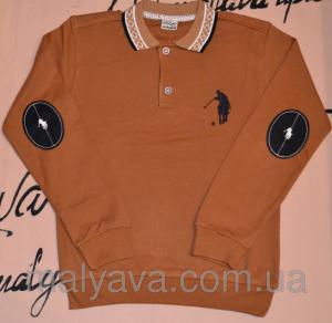Фото Регланы, поло, гольфы мальчик Поло коричневое Marcо Polo от 9 до 12 лет Soow