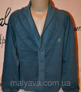 Фото Жилетка с рубашкой, джемпер, кофта мальчик Кардиган для мальчика на кнопках от 128 до 164 Buci