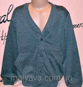 Фото Жилетка с рубашкой, джемпер, кофта мальчик Кофта серая от рост 110 до 128 Blueland