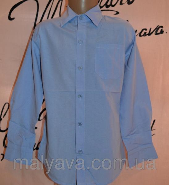 Голубая рубашка с длинным рукавом рост 110 и 122 Blueland