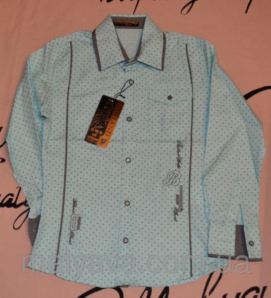 Детские классические рубашки от 128 до 164 Blueland