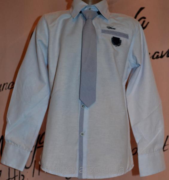 Голубая рубашка с галстуком от 110 до 128 Blueland