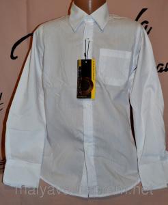 Фото Рубашка с длинным рукавом мальчик Белая рубашка прямая от 110 до 128 Blueland