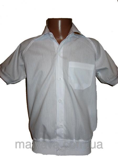Рубашка белая оптом от 110 до 128 Blueland