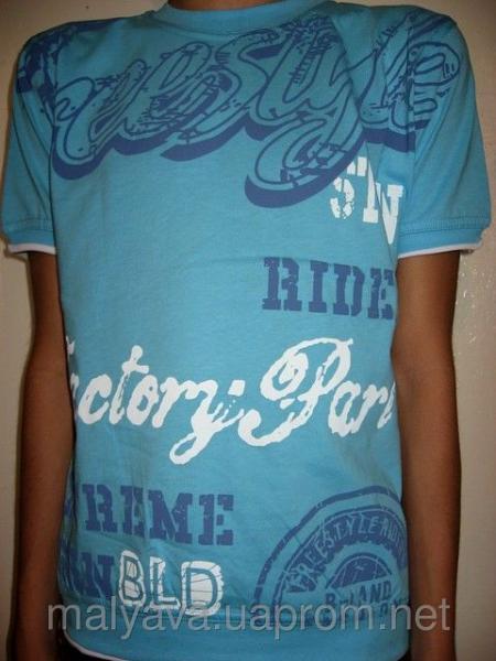 Трикотажная футболка подросток рост 128 Blueland