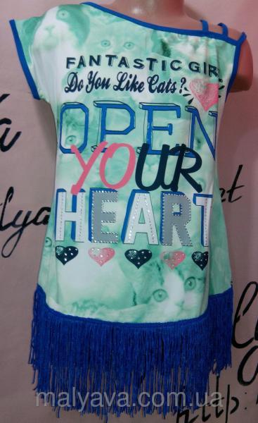 Нарядная футболка для девочки от 128 до 164 Blueland