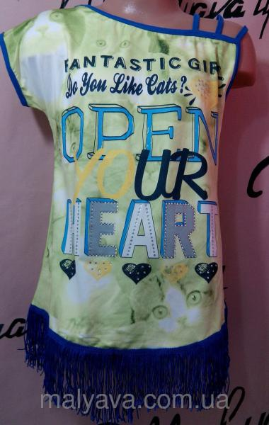 Стильная футболка для девочки от 128 до 164 Blueland