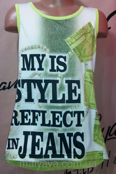Салатовая футболка для девочки от 128 до 164 Blueland
