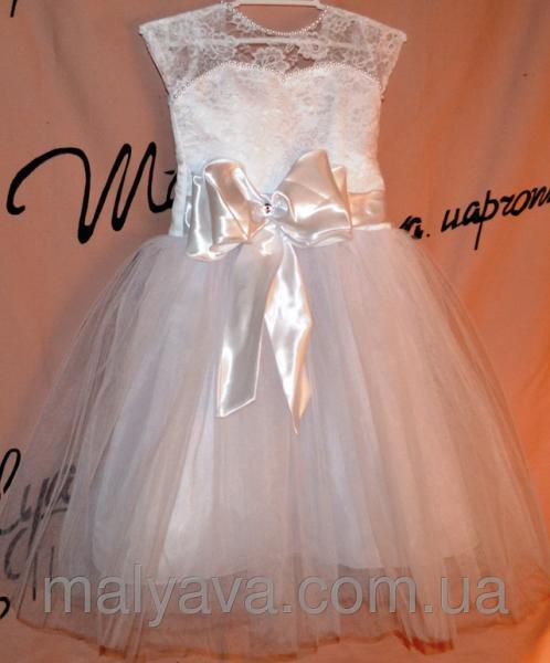 Белое платье для девочки на 6 7 лет