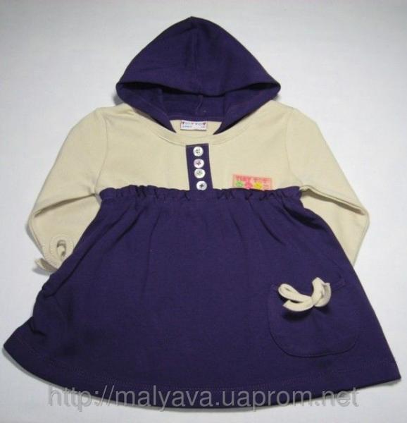 Платье с капюшоном от 68 до 86