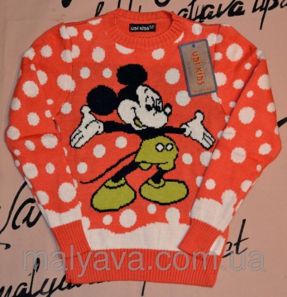 Детский свитер с мики маусом от 5 до 11 лет Udi kids