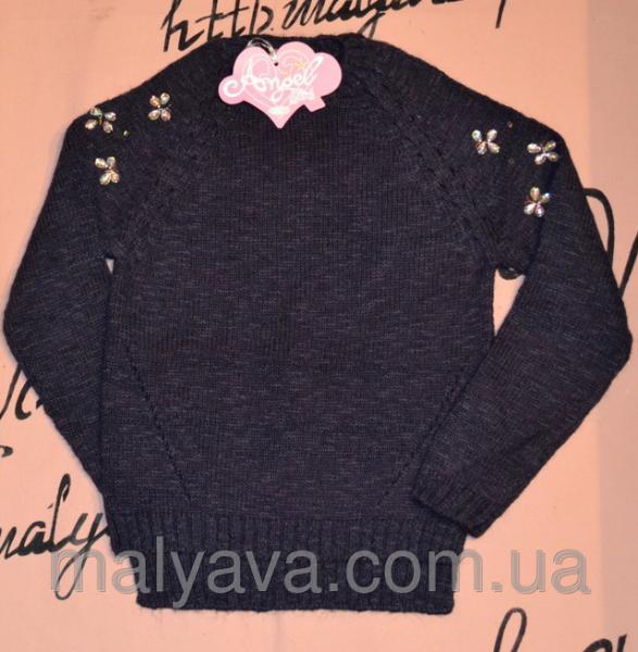 Синий свитер для девочки от 8 до 14 лет Angel girls