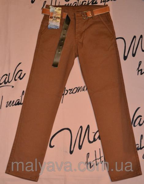 Коричневые брюки на мальчиков от 146 до 170 Altun