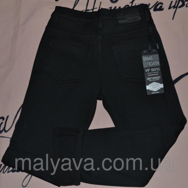 Черные брюки на флисе для мальчика школа от 28 до 31 Vip Bonis