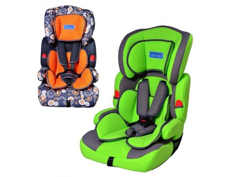 Автокресло детское M 0522 (2шт) 2 цвета (оранжево-серый, зелено-серый), группа 1-2-3 (9-36кг)