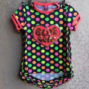 Фото ФУТБОЛКИ и МАЙКИ для детей, Футболка для девочки Футболка для девочек 5-8 лет c удлиненной спинкой