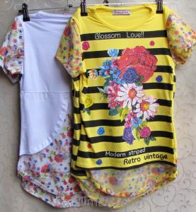 Фото ФУТБОЛКИ и МАЙКИ для детей, Туника для девочки Туника для девочек- ПОДРОСТКОВ c оригинальной спинкой