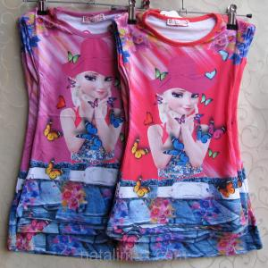 Фото ФУТБОЛКИ и МАЙКИ для детей, Туника для девочки Туника - платье для девочек