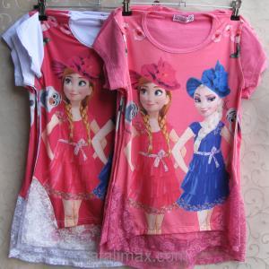 Фото ФУТБОЛКИ и МАЙКИ для детей, Туника для девочки Туника с оригинальной спинкой для девочек- ПОДРОСТКОВ