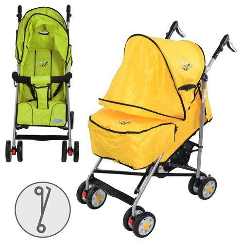 Коляска детская ARIA S1-4 (2шт) прогулочная, 2 цвета (бирюзов, малинов), колеса 8 шт, чехол на ножки