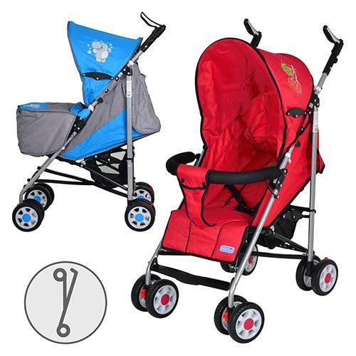 Коляска детская ARIA S1-6 (2шт) прогулочная,2 цвета (серо-голуб,красная), колеса 8шт, чехол на ножки