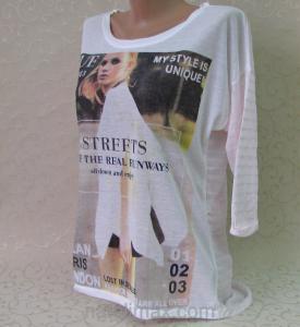 Фото Туники женские Туника с удлиненной спинкой, рукав 3/4 с подворотом.