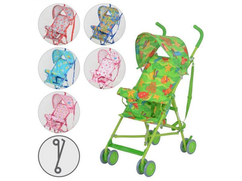 Коляска детская M 1702 (6шт) прогулочная,6 цветов(розов,малин,синий,голуб,красн,зелен),в кор-ке,