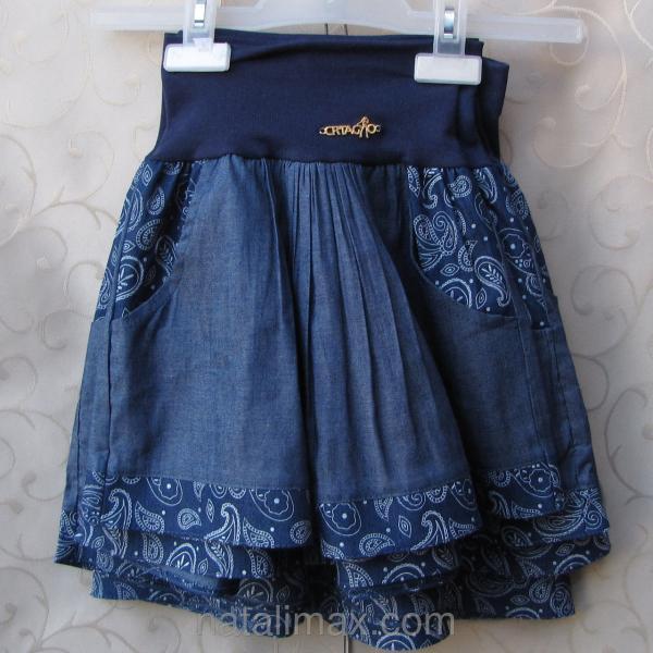 Джинсовая юбка для девочек 4-7 лет