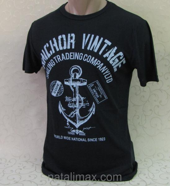 Модная футболка прилегающего силуэта , 46 - 52 р-р