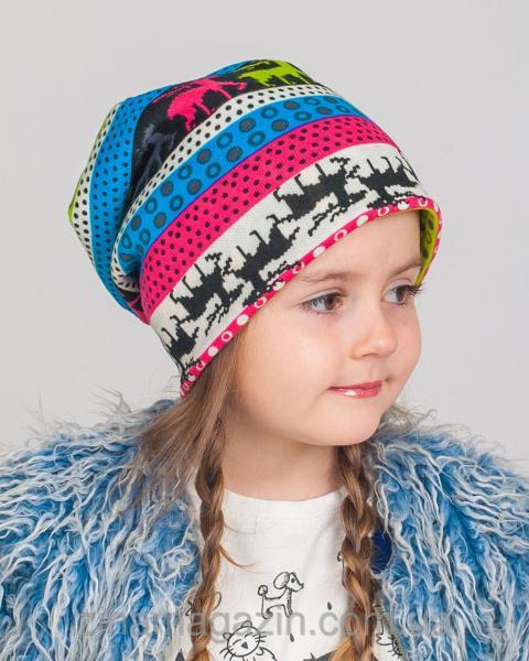 Детская шапка с оленями