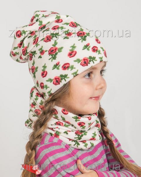 Детский комплект  шапка + баф