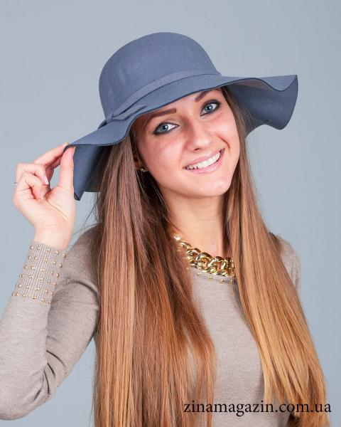 Шляпа широкополая (серая)