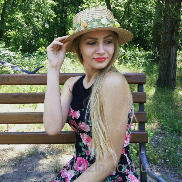 Шляпа канотье (с цветами)