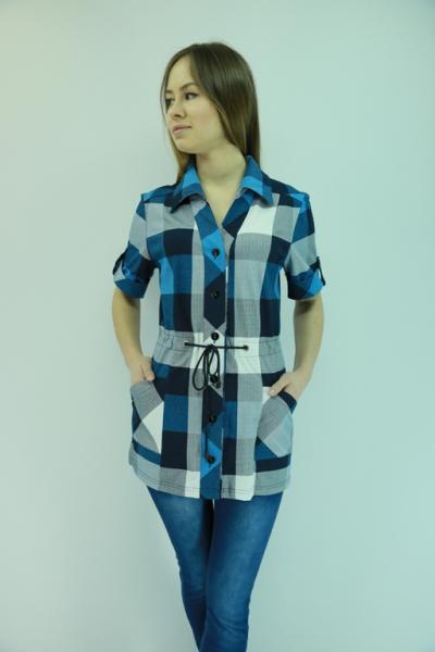 Рубашки женские в клетку из шотландки и трикотажа