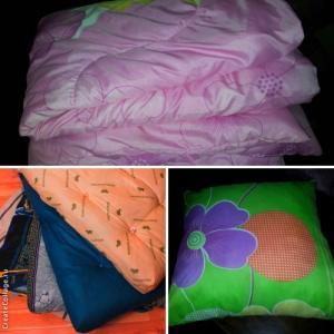 Фото  Матрац, подушка и одеяло