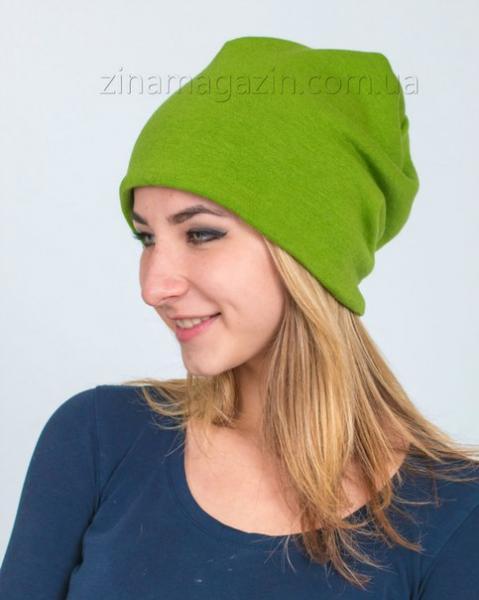 Шапка чулок зеленый