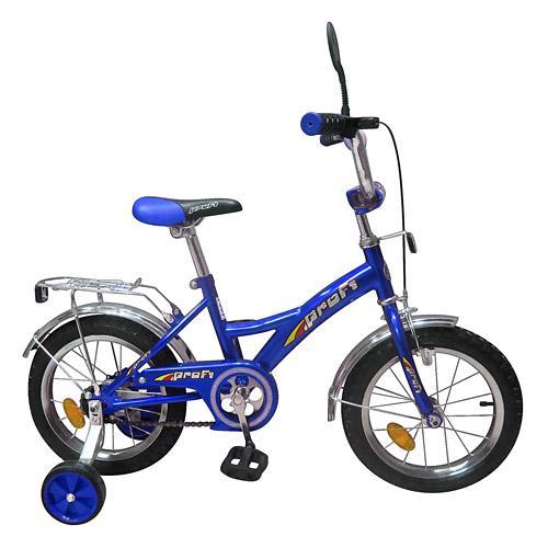"""Велосипед PROFI детский 12"""" P 1233 (1шт) синий, звонок,зеркало,приставные колеса"""