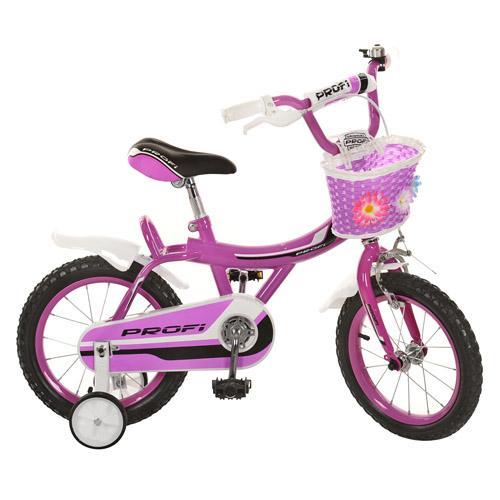 Велосипед PROFI детский 14д. 14BX406-1 (1шт) фуксия,каретка америк,полная защита цепи,пласт,