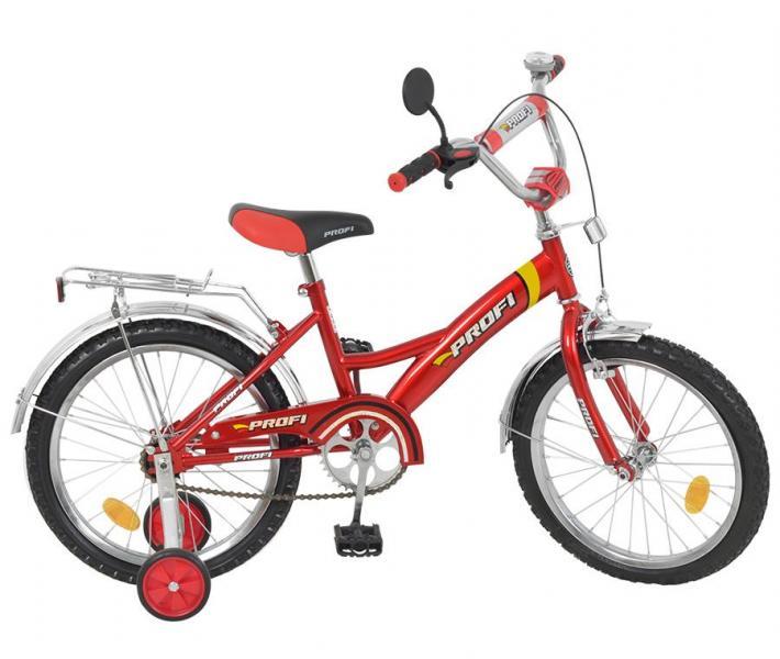 """Велосипед PROFI детский 16"""" P 1631 (1шт) красный, звонок,зеркало,приставные колеса"""