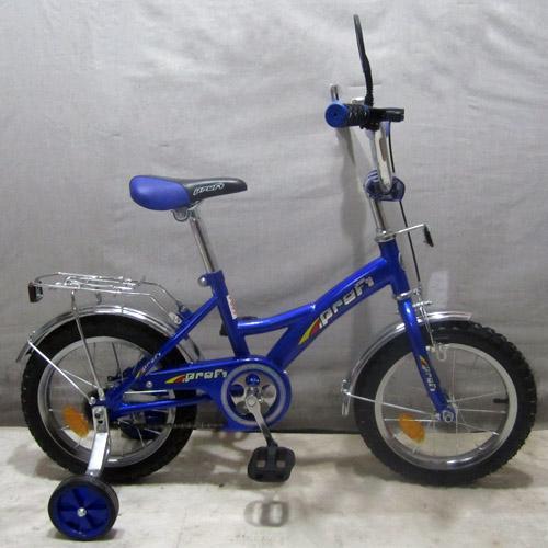 """Велосипед PROFI детский 16"""" P 1633 (1шт) синий, звонок,зеркало,приставные колеса"""