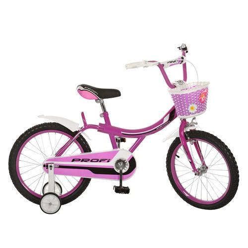 Велосипед PROFI детский 18д. 18BX406-1 (1шт) фуксия,каретка америк,полная защита цепи,пласт,