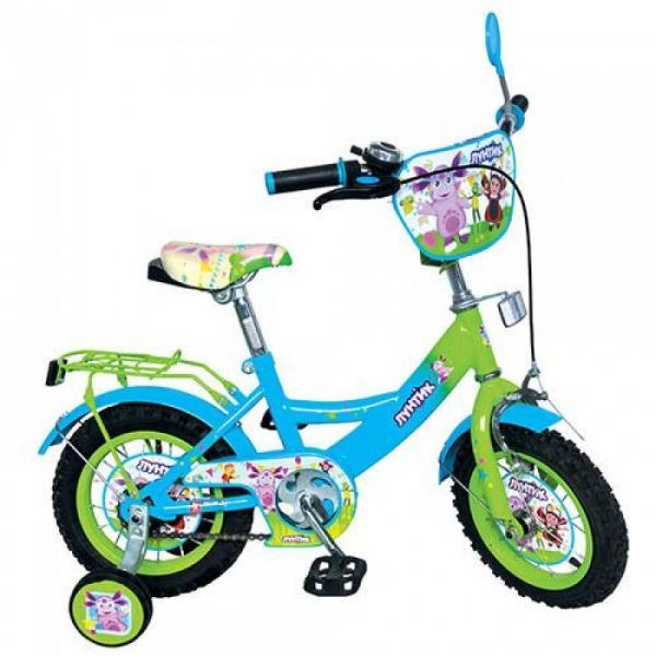Велосипед детский 12д. LT 0050-01 (1шт) ЛК, зелено-голубой